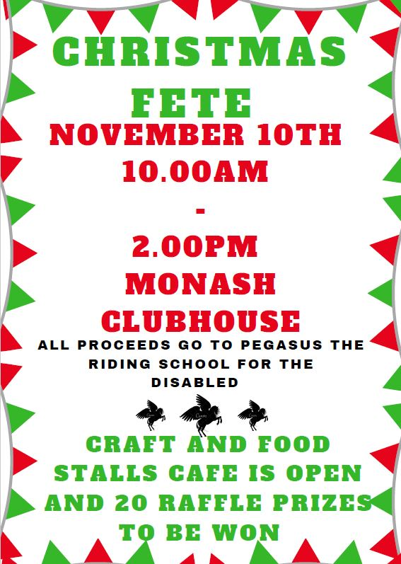 Monash Village Christmas Party poster
