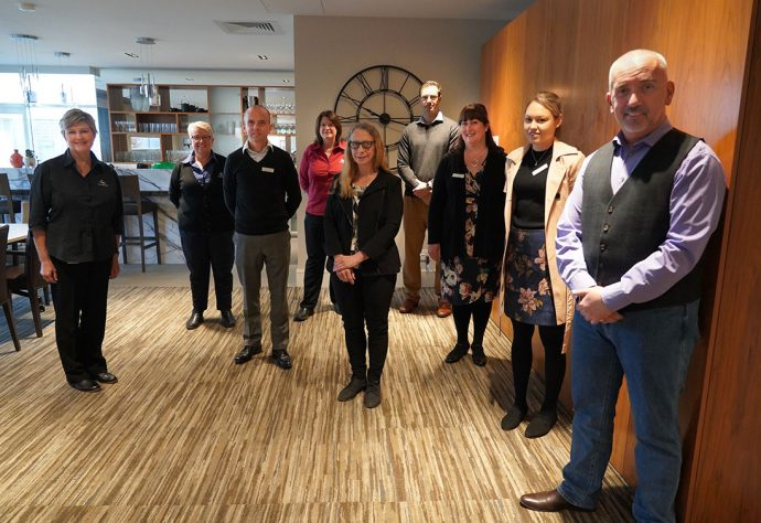 Researchers from University of Canberra with staff from Goodwin Village Crace