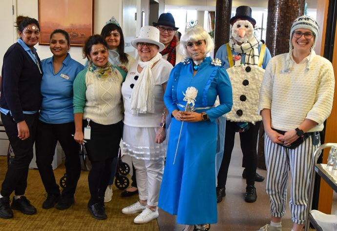 Goodwin staff dressed up for winter party
